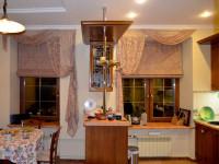 Шторы на кухню современные — (100 фото)