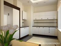 Дизайн кухни в квартире — «сталинке»