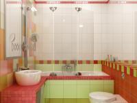 Дизайн ванной комнаты 3 кв. м.
