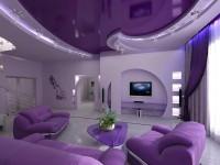 Современный дизайн натяжных потолков: 50 лучших фото идей