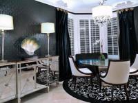 Темные стены в дизайне квартиры
