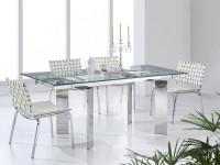 Стеклянный стол в интерьерных решениях