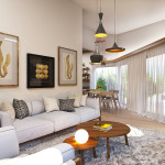 Проект дизайна гостиной 1