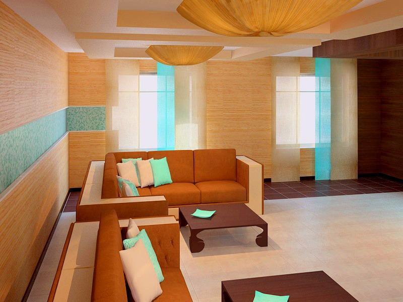 Проект дизайн гостиной