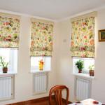Варианты дизайна штор для кухни 3