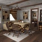 Идея дизайна штор для кухни 68