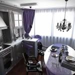 Идея дизайна штор для кухни 19