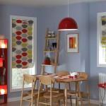 Идея дизайна штор для кухни 69