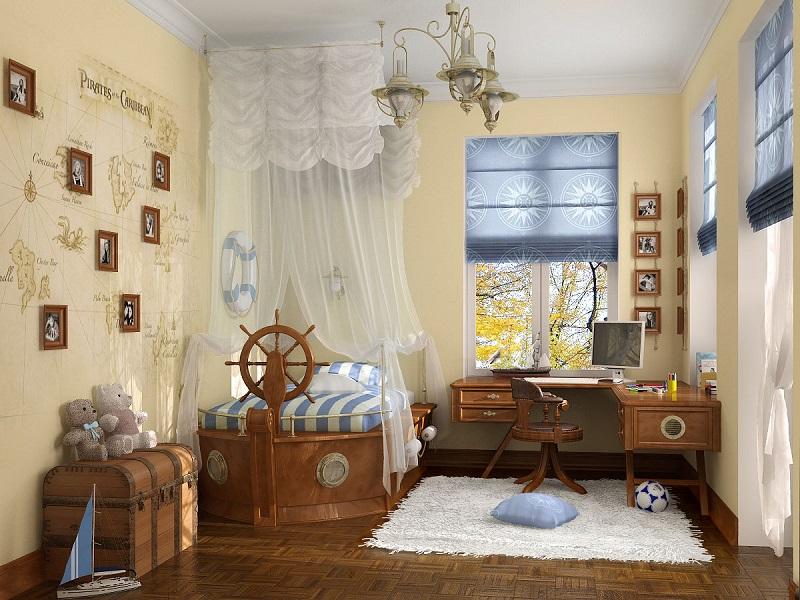 2-Дизайн интерьера для мальчика в морском стиле