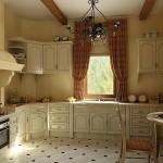 Идея дизайна штор для кухни 38