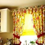 Дизайн штор для кухни 31