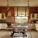Идея дизайна штор для кухни 40