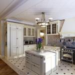 Проект дизайна кухни в белых тонах