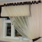 Идея дизайна штор для кухни 10