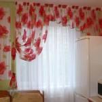 Идея дизайна штор для кухни 28