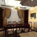 Идея дизайна штор для кухни 12