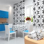 Идея дизайна штор для кухни 16