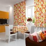 Идея дизайна штор для кухни 150
