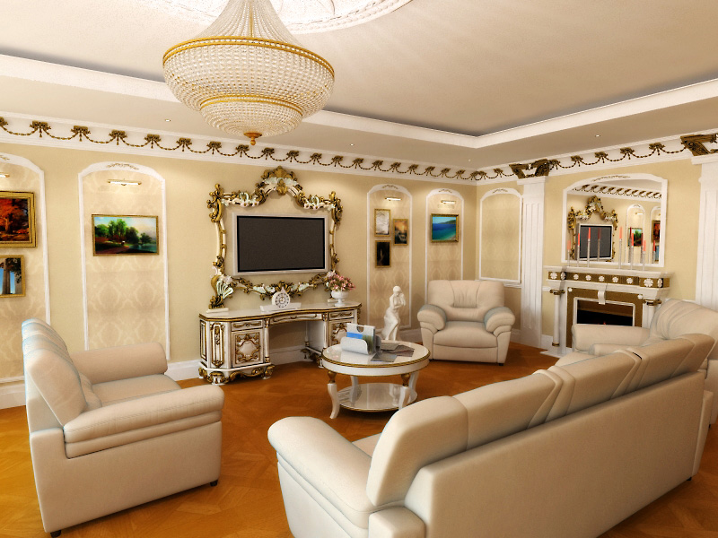 Классический-интерьер-гостиной-с-мебелью