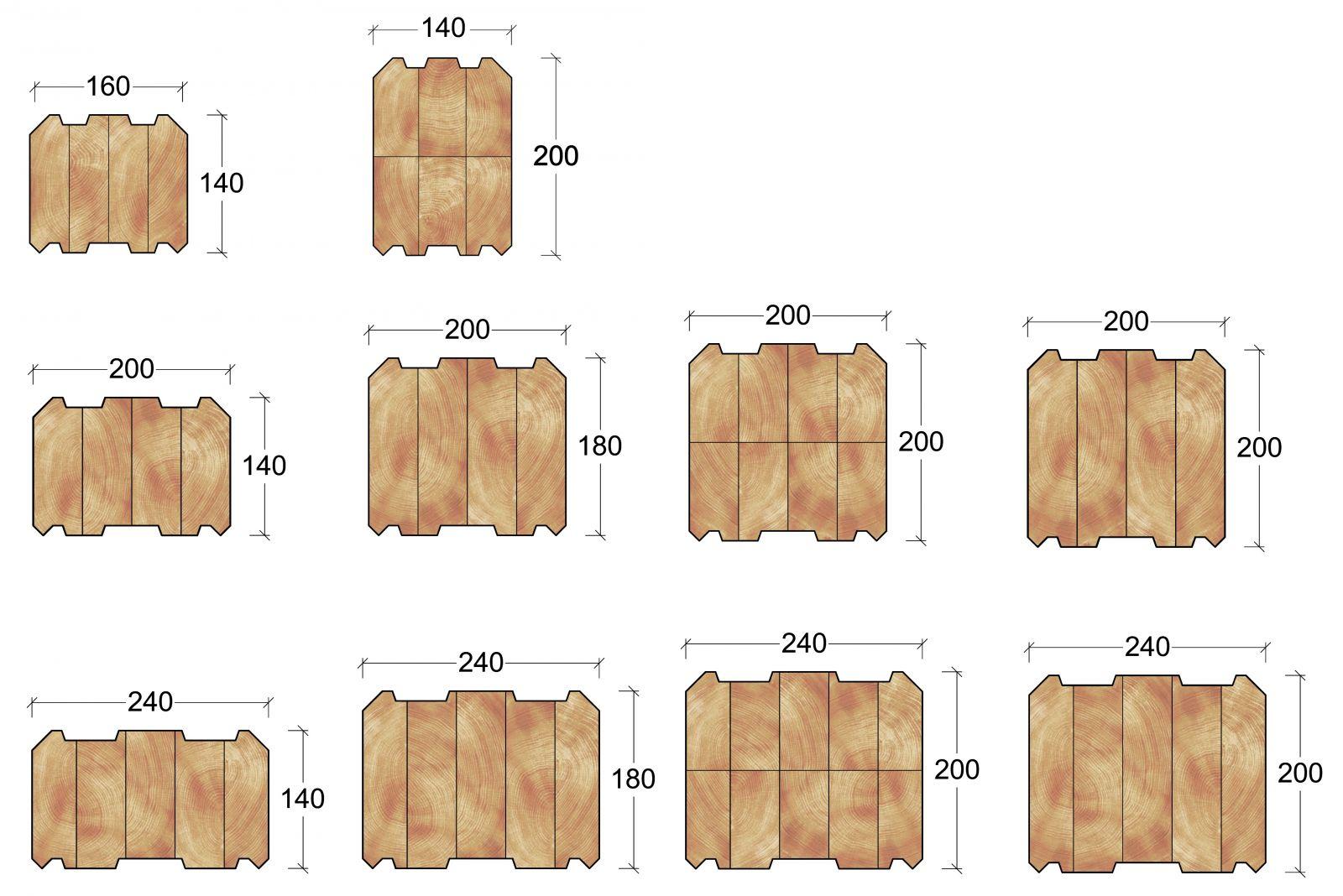 Размеры бруса и доски
