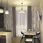 Идея дизайна штор для кухни 153