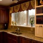 Идея дизайна штор для кухни 134