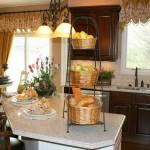 Идея дизайна штор для кухни 135