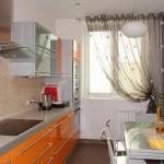 Дизайн штор для кухни с балконом 6