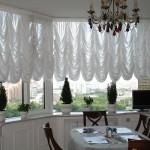 Дизайн штор для кухни с балконом 7