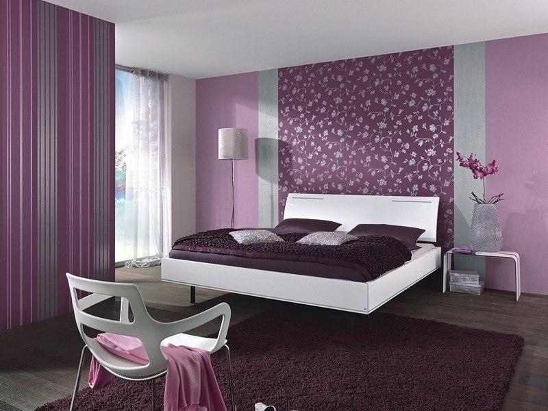 Спальня-в-фиолетовом-цвете