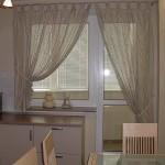 Дизайн штор для кухни с балконом 2