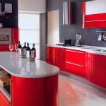 Идея дизайна штор для кухни 84