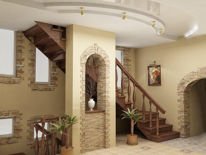 дизайн-холла-в-частном-доме