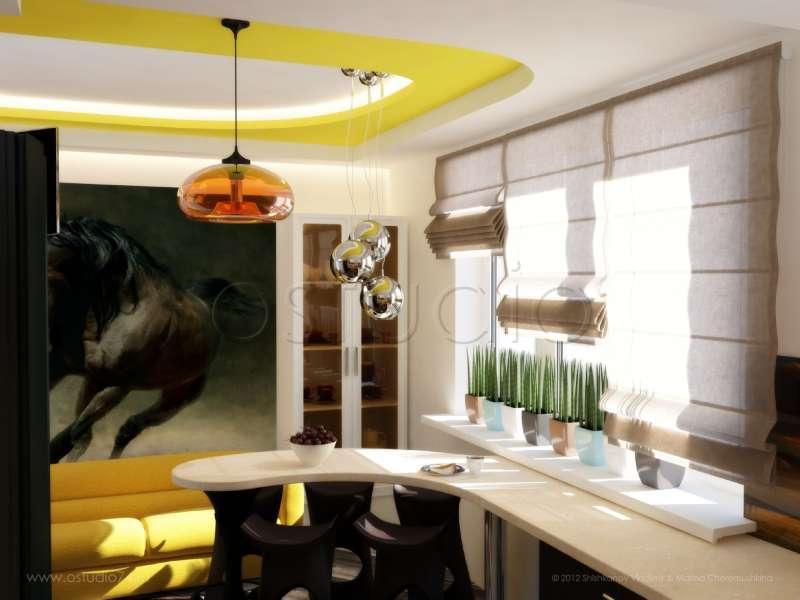дизайн-прямоугольной-кухни-10-кв-м-фото