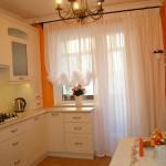 Варианты дизайна штор для кухни 1