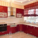 Идея дизайна штор для кухни 97