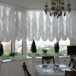 Идея дизайна штор для кухни 98