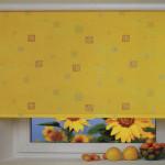 Идея дизайна штор для кухни 100