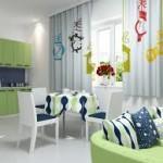 Дизайн штор для кухни 81