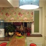 Идея дизайна штор для кухни 106