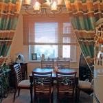 Идея дизайна штор для кухни 107