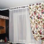 Идея дизайна штор для кухни 111