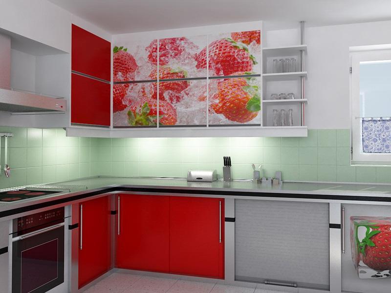 кухня-10-метров-и-больше-красная