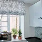 Дизайн штор для кухни 88