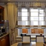Дизайн штор для кухни с балконом 5