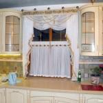 Дизайн штор для кухни 90
