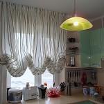 Идея дизайна штор для кухни 116