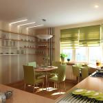 Идея дизайна штор для кухни 120