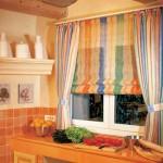 Идея дизайна штор для кухни 122