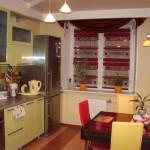 Идея дизайна штор для кухни 123